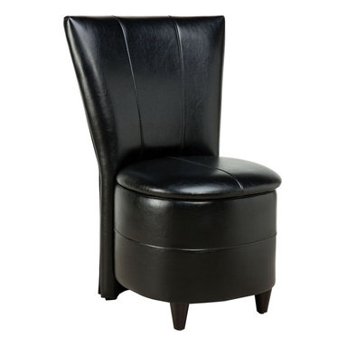 Standard Furniture - Standard Furniture Sit N' Store Storage Stool in Black PVC - Sit n' Store Chairs are versatile and multifunctional seating options for youth bedroom, all with storage beneath the lift off seat cushion.