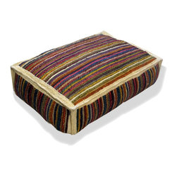 Loominary - Jute Floor Cushion - Hit the floor in comfort and style with this natural jute floor cushion. You can use it indoors or out, for enjoyment year-round.