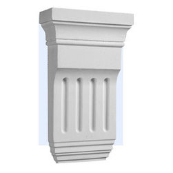 """Inviting Home - Tuscan Decorative Corbel - 10-9/16""""H x 6-5/16""""W x 2-1/4""""D Polyurethane Corbels/Brackets are factory primed and suitable for painting glazing or faux finish. This corbel is manufactured from high-density furniture grade polyurethane material that is water and heat resistant impervious to insect infestation and odor free. Polyurethane corbels are easier to install than plaster or gypsum due to their light weight dimensional stability precise tolerances and flexibility."""
