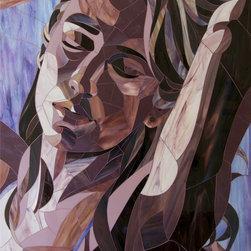 "Stained Glass Mosaic Portrait, ""Sierra's Aura"" - Titled ""Sierra's Aura"""