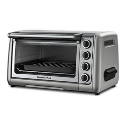 KitchenAid - KitchenAid RKCO111CU Contour Silver 10-inch Countertop Oven (Refurbished) - Cook like a professional with this ten-inch countertop oven from KitchenAid. A brushed finish,stainless steel racks and broil pan with grill finish this set.
