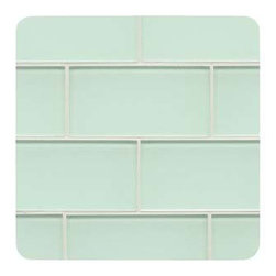 "Design For Less - Soda Bottle Subway Glass Tile Kitchen - Our Soda Bottle Glass Subway Tile was inspired by wandering along a wave splashed beach and finding an old weather piece of light green glass. Yep, we captured that essences and it is ""WOW"". Dig in and thanks us later. Beach treasure never looked so stunning. This glass tile is an 8mm or 1/3"" thick glass tile with a polypropylene backing for maximum color continuity and radiance. Each piece is 3x6 subway glass tile and comes in a box of 60 pieces or 7.5 square feet. Each piece is 3x6 and there are 8 pieces per square foot. Price is per SQUARE FOOT."