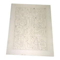 Picasso - Picasso Original Etching Le Chef D'Oeuvre Inconnu 340Ed Ae 1931 Balzac Book - ~ RARE ARTISTS EDITION INTRO SKETCH FROM 1931 BALZAC BOOK~
