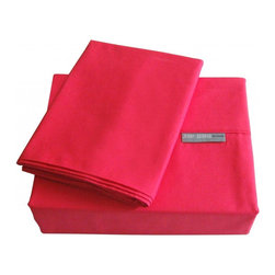 """Jenny George Designs - Bright Sheet Set - 200 Thread count bright sheet set. Machine washable. Imported. Twin 3 piece set features one fitted sheet (39""""x76""""x12""""deep), one flat sheet (66""""x96"""") and one pillow case (20""""x30""""); full 4 piece set features one fitted sheet (54""""x76""""x12""""deep), one flat sheet (81""""x96"""") and two pillow cases (20""""x30""""); queen 4 piece set features one fitted sheet (60""""x80""""x12""""Deep), one flat sheet (90""""x102"""") and two pillow cases (20""""x30"""");king 4 piece set features one fitted sheet (78""""x80""""x12""""deep), one flat sheet (108""""x102"""") and 2 pillow cases (20""""x40""""); california king 4 piece set features one fitted sheet (72""""x84""""x12""""deep), one flat sheet (112""""x102"""") and 2 pillow cases (20""""x40"""")."""