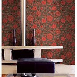 Wallcovering - Living Room - Red flowers wallpaper?
