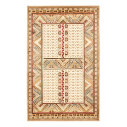 """Safavieh - Rooney Rug, Ivory 2'7"""" X 4' - Construction Method: Power Loomed. Country of Origin: Belgium. Care Instructions: Vacuum Regularly To Prevent Dust And Crumbs From Settling Into The Roots Of The Fibers. Avoid Direct And Continuous Exposure To Sunlight. Use Rug Protectors Under The Legs Of Heavy Furniture To Avoid Flattening Piles. Do Not Pull Loose Ends; Clip Them With Scissors To Remove. Turn Carpet Occasionally To Equalize Wear. Remove Spills Immediately. Rich and textural, the Paradise Collection is soft and luxurious underfoot, with beautiful patterns in plush cut pile adding artful dimension to a chenille loop pile ground. Power-loomed in Belgium, these high style rugs are crafted of organic viscose yarns for the lustrous sheen of finely woven silk carpets."""