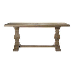 Curations Limited - New Trestle Grey Dining Table -