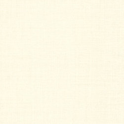 Brewster Home Fashions - Valois Cream Linen Texture Wallpaper Bolt - As pretty as a pearl this wallpaper transforms walls into a chic linen fabric.