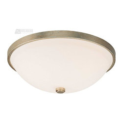 Capital Lighting - Capital Lighting Transitional 3-Light Flush Mount Ceiling Fixture X-WS-GW5232 - For a fresh accent to a traditional or modern interior this Capital Lighting Transitional flush mount ceiling light is a perfect choice. A handsome, round soft white glass is surrounded by winter gold finished ring. The ceiling light is the answer to your home or commercial space lighting needs.
