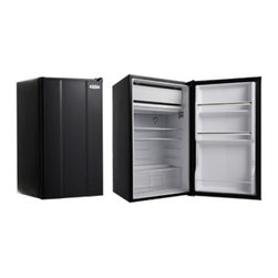 MicroFridge - MicroFridge 20108E 3.6 cu. ft. Refrigerator - Black - 3.6MFRA-E - Shop for Compact from Hayneedle.com! You'll have ample storage space to keep your favorite drinks and snacks close by with the MicroFridge 20108E 3.6 cu. ft. Refrigerator - Black. Shelves door shelves bottle door storage and a stay-fresh drawer keeps your food and drinks cold and ready to be eaten. Its full-width ice compartment makes grabbing a few ice cubes simple so you and your friends can enjoy cold drinks and snacks whether you're at the office or watching the game.About AvantiAvanti has been a leader in the Consumer Appliance Industry for over 30 years. They specialize in compact to full-sized refrigerators upright and chest freezers wine coolers water dispensers and more. Avanti's reputation has been built by providing quality products at a great value. They are known for our compact refrigerators for the home office and dormitory. Avanti compact refrigerators have become popular with hotel chains nationwide as in-room refrigerators and refreshment centers.