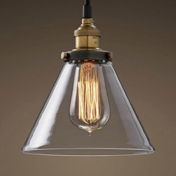 Country Style Clear Inverted Cup Glass Pendant Lighting - Add warmth to your home by hanging this Country Style Clear Inverted Cup Glass Pendant Lighting in your living room,your kitchen bar,your family or your children's bedroom.Once you hang this lamp, you'll start critiquing every other lighting fixture in the house. The light's unique design will change the way you think about illuminating a room.