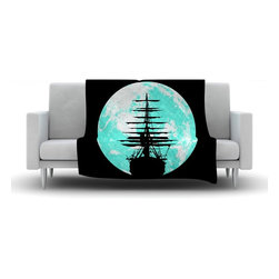 "Kess InHouse - Micah Sager ""Voyage"" Aqua Black Fleece Blanket (30"" x 40"") - Now you can be warm AND cool, which isn't possible with a snuggie. This completely custom and one-of-a-kind Kess InHouse Fleece Throw Blanket is the perfect accent to your couch! This fleece will add so much flare draped on your sofa or draped on you. Also this fleece actually loves being washed, as it's machine washable with no image fading."