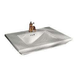 """KOHLER - KOHLER K-2269-8-0 Memoirs Stately 30"""" Vanity-Top Bathroom Sink - KOHLER K-2269-1-0 Memoirs Lavatory Basin with Single-Hole Faucet Drilling in White"""