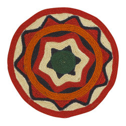 Rugsville - Rugsville Stars Multi Jute Kilims 13624-22 Rug - Rugsville Braided   carpets are known for their beauty, durability and strength. Braided  carpets also called as flat woven carpets, utilize warp and weft strands as a part of the foundation and in creating patterns. These carpets are mainly made up of materials like wool, cotton, jute etc. but the jute material is preferred to other types of materials. Virtually all types of colors are used in these carpets. Design theme is derived from the natural surroundings, geometrical and floral patterns, cultural and historical traditions.