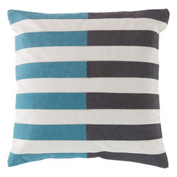 "Surya - Surya AR-134 Spellbound By Stripes Pillow, 18"" x 18"", Down Feather Filler - Multilayered and hypnotizing design will effortlessly redefine your space, fashioning a look that will surely shine in any home decor. With its marvelously multicolored, seemingly stripe design, this piece will offer a unique statement that emanates chic, charming trend. Genuinely faultless in aspects of construction and style, this piece embodies impeccable artistry while maintaining principles of affordability and durable design, making it the ideal accent for your decor."