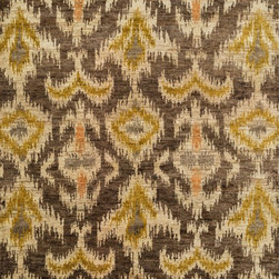 "Loloi Rugs - Loloi Rugs Xavier Collection - Coffee / Beige, 9'-6"" x 13'-6"" - The sumptuous Xavier Collection is distinguished by its plush feel and bright, bold color palette. Hand knotted with 100% jute from India, Xavier's large scale Ikat design offers sophistication that works as an incredible centerpiece for a variety of room settings."