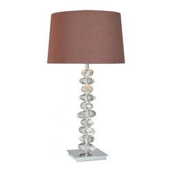 Minka George Kovacs - Minka George Kovacs Decorative Portables 1-Light Chrome Table Lamp - This 1-Light Table Lamp has a Chrome Finish and Dark Chocolate Glass.