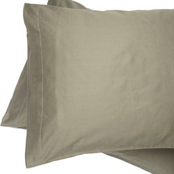 Alluna - Green 500-Thread Count Best Fit Pillow Case - Set of Two - Drift to Dreamland with this set that boasts an extra-soft 500-thread count and a 6-inch capture top opening that keeps your pillow in place.   Includes two pillow cases 100% cotton 500-thread count Machine wash Imported