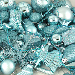 125-Piece Club Pack of Shatterproof Mermaid Blue Christmas Ornaments - This is a giant collection of shapes — 125 ornaments all together. This is a great way to get a base to build upon.