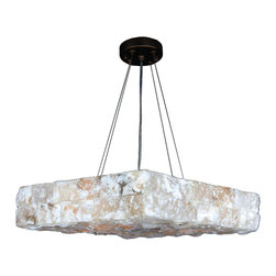 "Worldwide Lighting - Pompeii 5 Light Flemish Brass Finish Natural Quartz Large 18"" Square Pendant - Paragraph Description (if exist)"