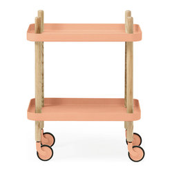 Normann Copenhagen Block Side Table, Coral