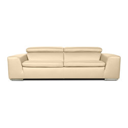 RED LIVING - Hampton II Beige 3 Seat Couch - Welcome to first class - the premium quality Hampton collection offers the very highest levels of comfort and workmanship. The luxurious cushioning and wide armrests are particuarly inviting, and the feel of the leather is further proof of this pieces exceptional quality.