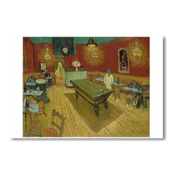 "PosterEnvy - The Night Cafe 1888 - Vincent van Gogh - Art Print POSTER - 12"" x 18"" The Night Cafe 1888 - Vincent van Gogh - Art Print POSTER on heavy duty, durable 80lb Satin paper"