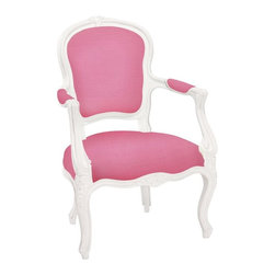 Ooh La La Armchair, Bright Pink - Update your office or the dinning room with this fun and fanciful armchair.