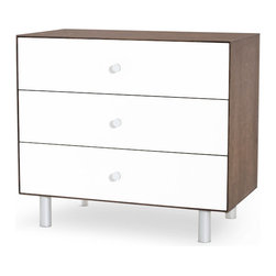 Oeuf - Merlin 3 Drawer Dresser with Classic Base - Not only is this dresser modern and chic, it's been constructed with anti-tipping safety features to ensure little hands can't pull it down or over. You can outfit your baby's room with peace of mind and a sense of style. Now, that's a winning combination.
