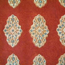 traditional upholstery fabric by Saffron Marigold