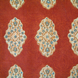 Spice Route ~ Fabric Swatch - Another Indian block print I love! It's so rich and strong yet easy to live with.