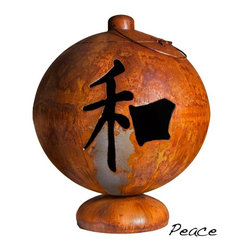 "Ohio Flame - Peace, Happiness, Tranquility Fire Globe, 37 Inch Diameter - Dimensions: 30"" in Diameter x 64""H, 125 lbs; .156 inch thickness"