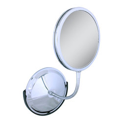 Zadro - Zadro Tri-Vision 1X/5X/10X Gooseneck Vanity/Wall Mirror In Chrome-Fg60 - The Triple Vision Gooseneck Vanity Mirror features three premium quality magnification mirrors. One mirror features a 10x magnification mirror on one side, and a 5x magnification mirror on the other, that allows you to see up-close and in detail, allowing for easy make-up application. The other mirror features a normal, 1x magnification mirror that is great for checking hair and make-up.