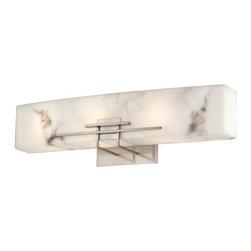 "Minka Lavery - Minka Lavery 6163-84-PL 3 Light 24"" Width Energy Star Bathroom Vanity Light with - Three Light 24"" Width Energy Star Bathroom Vanity Light with Alabaster Dust ShadeFeatures:"