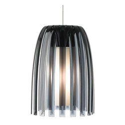 "LBL Lighting - LBL Lighting Mini Olivia Smoke 50W Monopoint 1 Light Pendant - LBL Lighting Mini Olivia Smoke 50W Monopoint 1 Light PendantDesigned by the trendy Koziol Company of Germany and containing all the elements of cutting edge modern design, this uniquely stylish Monopoint pendant features a Smoke 100% recyclable plastic outer shade and hand-blown inner opal glass diffuser. Enclosing a 50 watt xenon lamp, this eco-conscious design will complement the decor of any home seeking a modern look.Each Monopoint System lighting fixture includes a 4"" diameter single-point canopy with built-in transformer for a quick and easy installation.LBL Lighting Mini Olivia Smoke 50W Monopoint Features:"