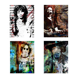 Ready2HangArt - Ready2hangart Alexis Bueno Rock Stars' Canvas Wall Art - This 'Rock Star' canvas art set is the perfect holiday gift. Keep them all, or give to a special friend. They are a great addition to any contemporary space. It is fully finished, arriving ready to hang on the wall of your choice.