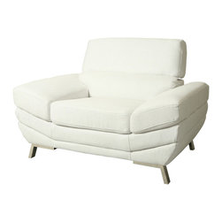 Pastel - Club Chair in White - The Glamis Castle club chair is a smart and modern design blends quality, value, style as well as comfort to any room.