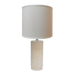 Emphasis Natural Stone 1-Light Table Lamp - This stone lamp has great texture and a classic shape that could fit in just about anywhere. And it looks more expensive than it is!