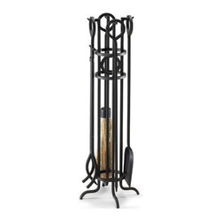 Pilgrim Home & Hearth - Napa Forge Metro Bridge  4 Pc. Tool Set - Pilgrim Home & Hearth / Napa Forge Metro Bridge 4 pc. Tool Set  Black Finish - 4 funcitonal tools with steel stand.  Natural straw broom.  10 Year Limited Warranty.