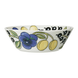 "iittala Paratiisi Soup/Cereal Bowl 6.5"" - Birger Kaipiainen's Paratiisi dishes combine well-defined and controlled shapes with rich decoration, achieving a beauty that never fails to inspire. The captivating Paratiisi range is a much-loved classic from Arabia. It only takes one Paratiisi dish in a table setting to turn a meal into a celebration."
