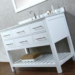 "New Manhattan White 48"" Bathroom Vanity - New Manhattan 48"" Bathroom Vanity - White"