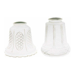 "Renovators Supply - Lamp Shades Frosted Glass Lamp Shade 5 1/16"""" H 2 1/4"""" fitter 