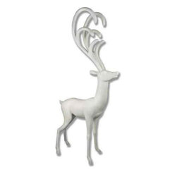Orlandi Statuary - Majestic Deer Garden Statue Multicolor - F7082DEERLOOKFORWARD - Shop for Statues and Sculptures from Hayneedle.com! This Majestic Deer Garden Statue's graceful build will look simply ravishing in your garden's cultivated atmosphere. This modern statue is formed in a weather-resistant fiberglass resin designed to capture every detail of the original sculpture. A hand-applied finish is added to give the statue a protective shield against the natural elements. Sleek legs and a slender body design form an elegant contrast with the sweeping lines of the antlers. This highly detailed stylized piece makes a striking addition to any setting.About Orlandi StatuaryBorn in 1911 when Egisto Orlandi traveled from Lucca Italy to Chicago Illinois Orlandi Statuary quickly set the standard for excellence in their industry. Egisto took great pride in his craft and reputation and which is why artists interior designers and museums relied upon the careful details and impeccable quality he demanded. Over the years they've evolved into a company supplying more than statuary. Orlandi's many collections today include fiber stone for the garden religious statuary fountains columns and pedestals. Their factory and showroom are still proudly located in Chicago where after 100 years they remain an industry icon.
