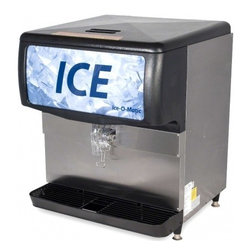 Ice-O-Matic - IOD200 Ice Only or Water/Ice Dispenser with 200 lbs. of Ice Storage Capacity  Wo - The Ice-O-Matic ice dispenser ensures that ICE hits the glass every time while it stores up to 200 lbs of ICE Ice O-matic ice dispensers promises greater dispensability their auto rotate turns the ICE for 4 seconds every hour to consistently provide ...