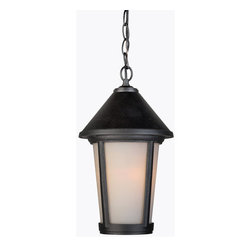 Artcraft Lighting - Artcraft Lighting AC8215BK Malibu 1 Light Lantern Pendant - Features:
