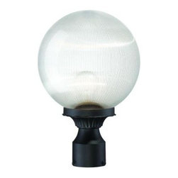 Acclaim Lighting - Outdoor Lighting. Havana Collection Post-Mount 1-Light Outdoor Matte Black Fixtu - Shop for Lighting & Fans at The Home Depot. The Havana collection 1-light post-mounted lantern is of durable cast aluminum. This ensures that it will not rust and resists corrosion. The clear prismatic acrylic globe adds character to this elegant lantern.