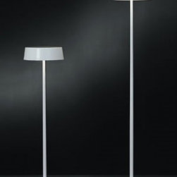 """Penta light - Penta light China Floor Lamp - The China floor lamp from Penta has been designed by Nicola Gallizia. This floor mounted luminaire is great for halogen lighting. The China is composed of metal elements in a red, brown, glossy black, glossy white, glossy chrome, golden leaf or silver leaf finish. The China floor lamp displays a chic and elegant design, along with quality craftsmanship, that is sure to brilliantly brighten any contemporary atmosphere.     Product Details: The China floor lamp from Penta has been designed by Nicola Gallizia. This floor mounted luminaire is great for halogen lighting. The China is composed of metal elements in a red, brown, glossy black, glossy white, glossy chrome, golden leaf or silver leaf finish. The China floor lamp displays a chic and elegant design, along with quality craftsmanship, that is sure to brilliantly brighten any contemporary atmosphere.    Details:                                      Manufacturer:                                      Penta                                                     Designer:                                     Nicola Gallizia                                                     Made in:                                     Italy                                                     Dimensions:                                      Small: Height: 45.3"""" (115 cm) Width: 13"""" (33 cm)                          Large: Height: 63"""" (160 cm) Width: 13"""" (33 cm)                                                                                                       Light bulb:                                      Small and Large: 3 X 60W E14                                                     Material:                                      Metal"""