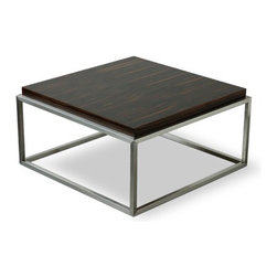 """Gus Modern - Accent Tables Drake Coffee Table - Supported by a simple stainless steel base, the wood top of the Drake Coffee Table is the center of attention. With its thirty inch diameter, this coffee table is just the right size for an apartment or smaller living room. Note: Any orders to Canada will not be processed. This product does not ship to Canada Features: -Minimalist, versatile design.-Stainless steel base.-Accent Tables collection.-Collection: Accent Tables.-Distressed: No.Dimensions: -15'' H x 30"""" W x 30"""" D.-Overall Product Weight: 40 lbs."""