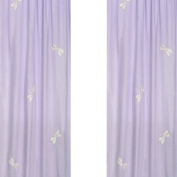 "Sweet Jojo Designs - Purple Dragonfly Dreams Window Panels (Set of 2) - Create a stylish look for your child's room with the Purple Dragonfly Dreams Window Panels (Set of 2). This set features 2 Window Panels that are 42"" x 84"" each."