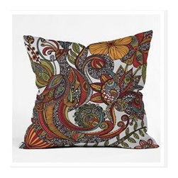 "DENY Designs - Valentina Ramos Paradise Bird Throw Pillow - Wanna transform a serious room into a fun, inviting space? Looking to complete a room full of solids with a unique print? Need to add a pop of color to your dull, lackluster space? Accomplish all of the above with one simple, yet powerful home accessory we like to call the DENY Throw Pillow! Features: -Valentina Ramos collection. -Color: Print. -Material: Woven polyester. -Sealed closure. -Spot treatment with mild detergent. -Made in the USA. -Closure: Concealed zipper with bun insert. -Small dimensions: 16"" H x 16"" W x 4"" D. -Medium dimensions: 18"" H x 18"" W x 5"" D. -Large dimensions: 20"" H x 20"" W x 6"" D. -Product weight: 3 lbs."